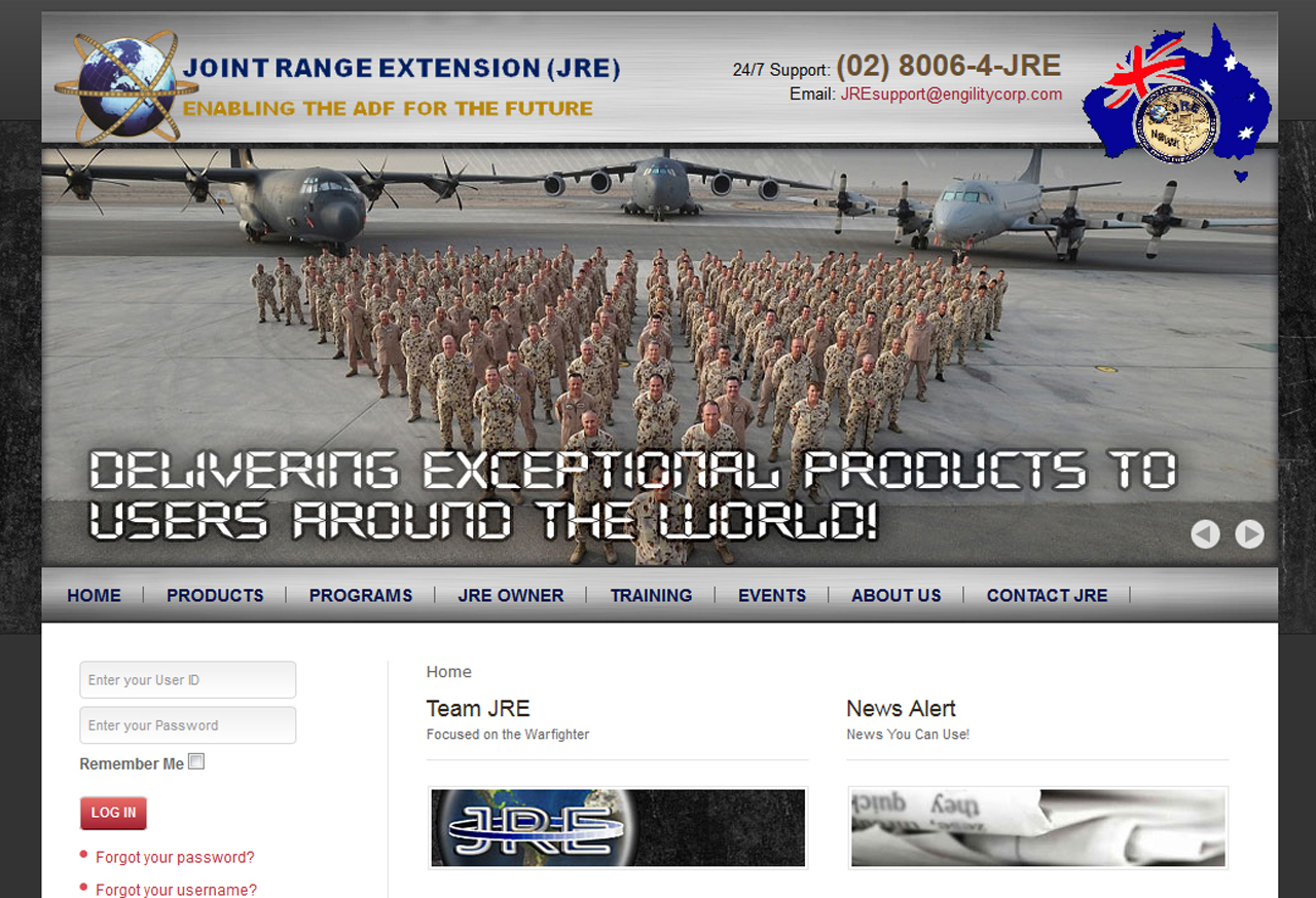 JRE_Australia-202 Defense and Aerospace Web Design