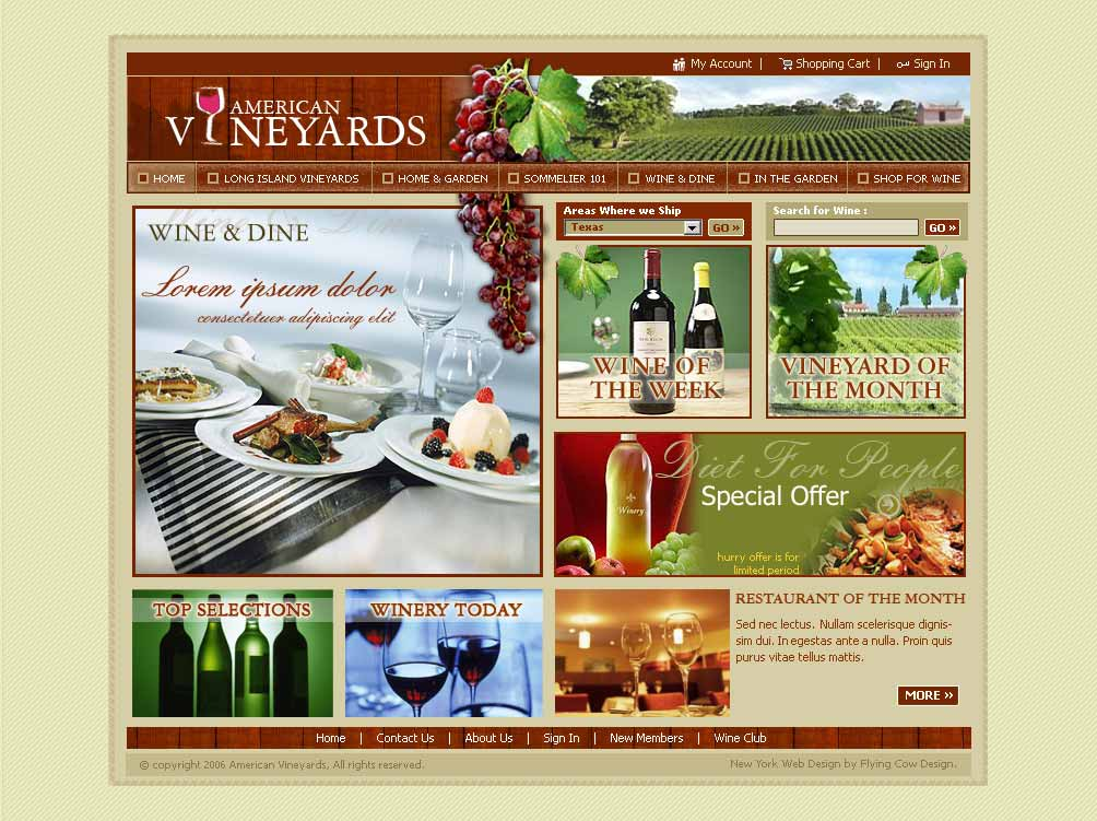 americanvineyards Web Design in New York, NY