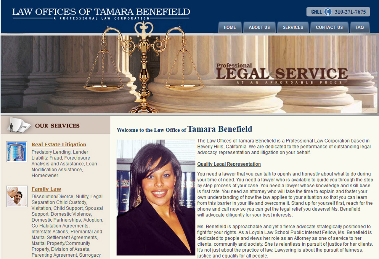 benefield-197 Law Firm Web Design