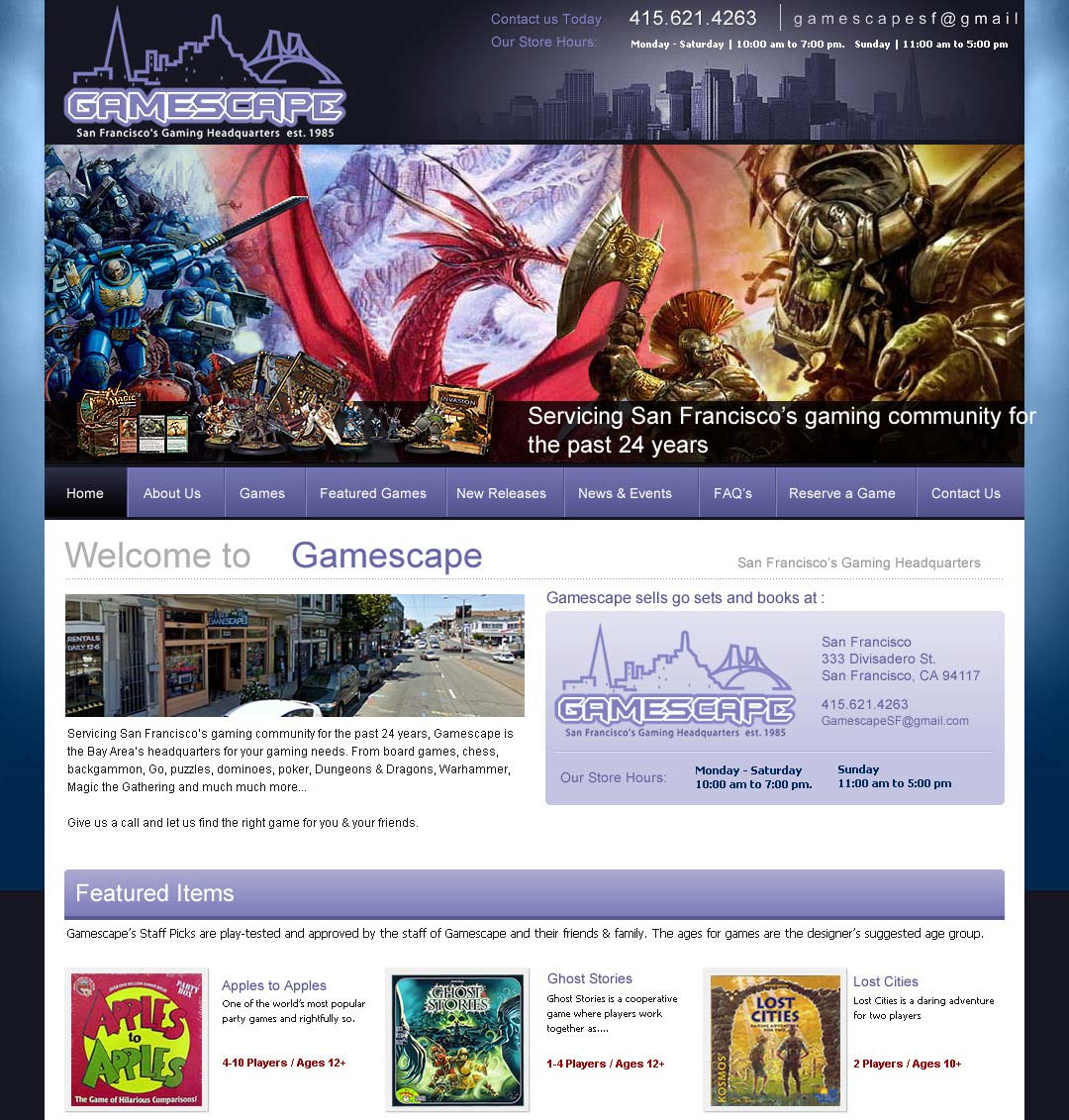 gamescape Web Design in San Francisco, CA