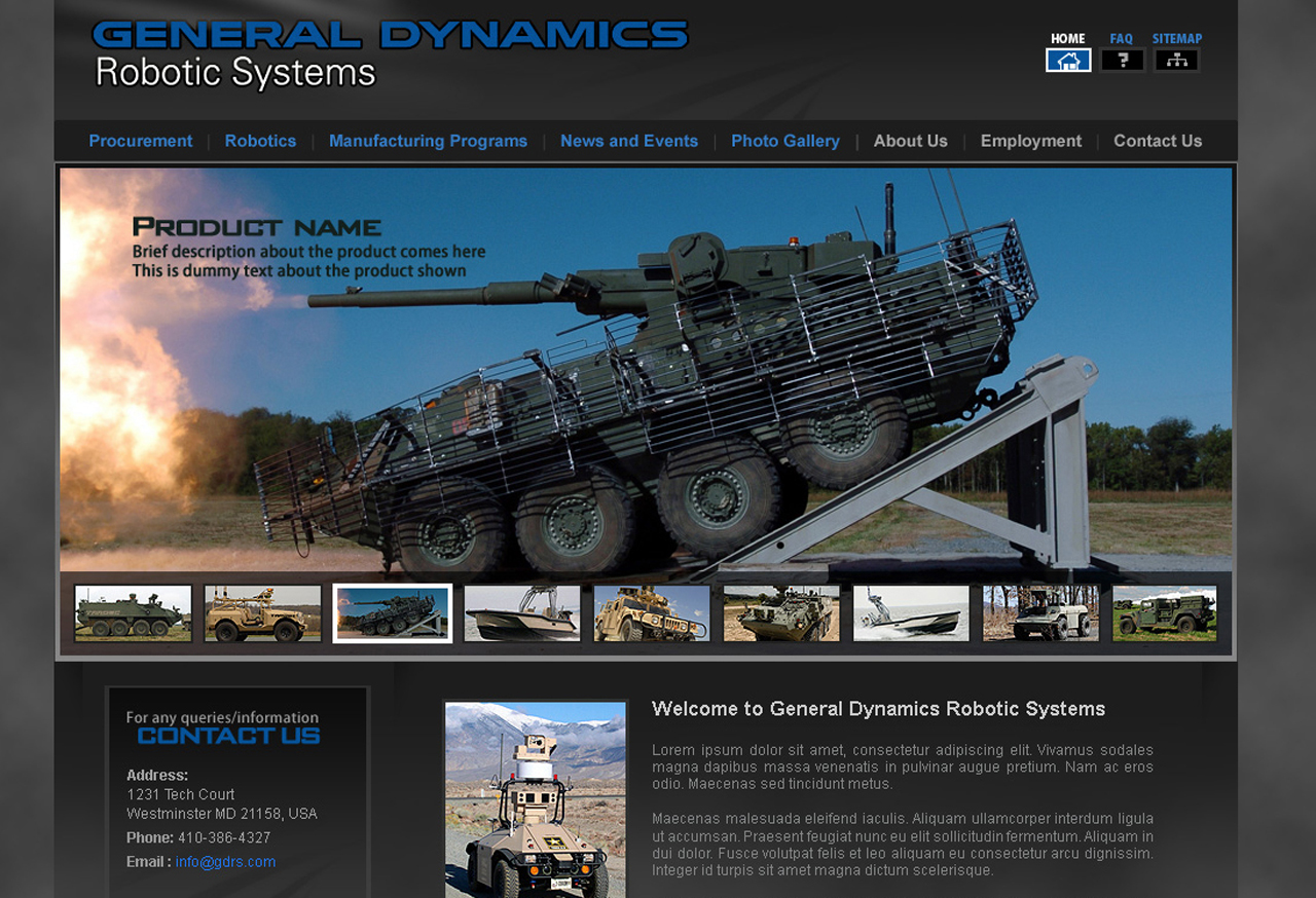 generaldynamics-201 Defense and Aerospace Web Design