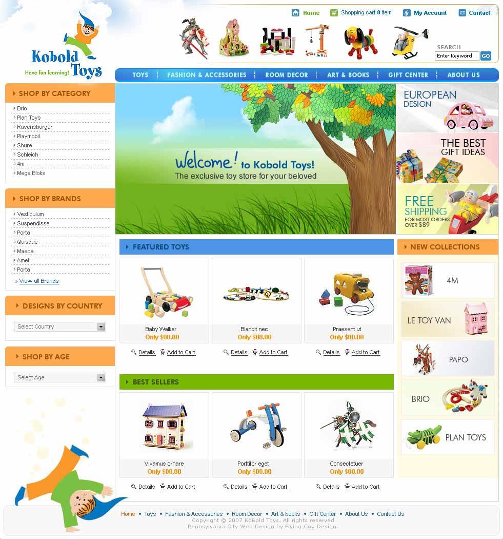 koboldtoys Web Design in Atlanta, GA