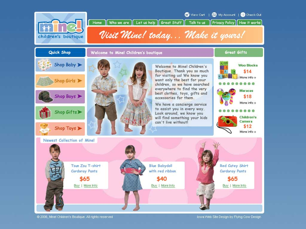 minestore ECommerce Web Design