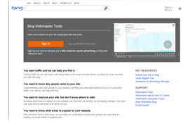 bing-webmaster-tools Tools for Webmasters