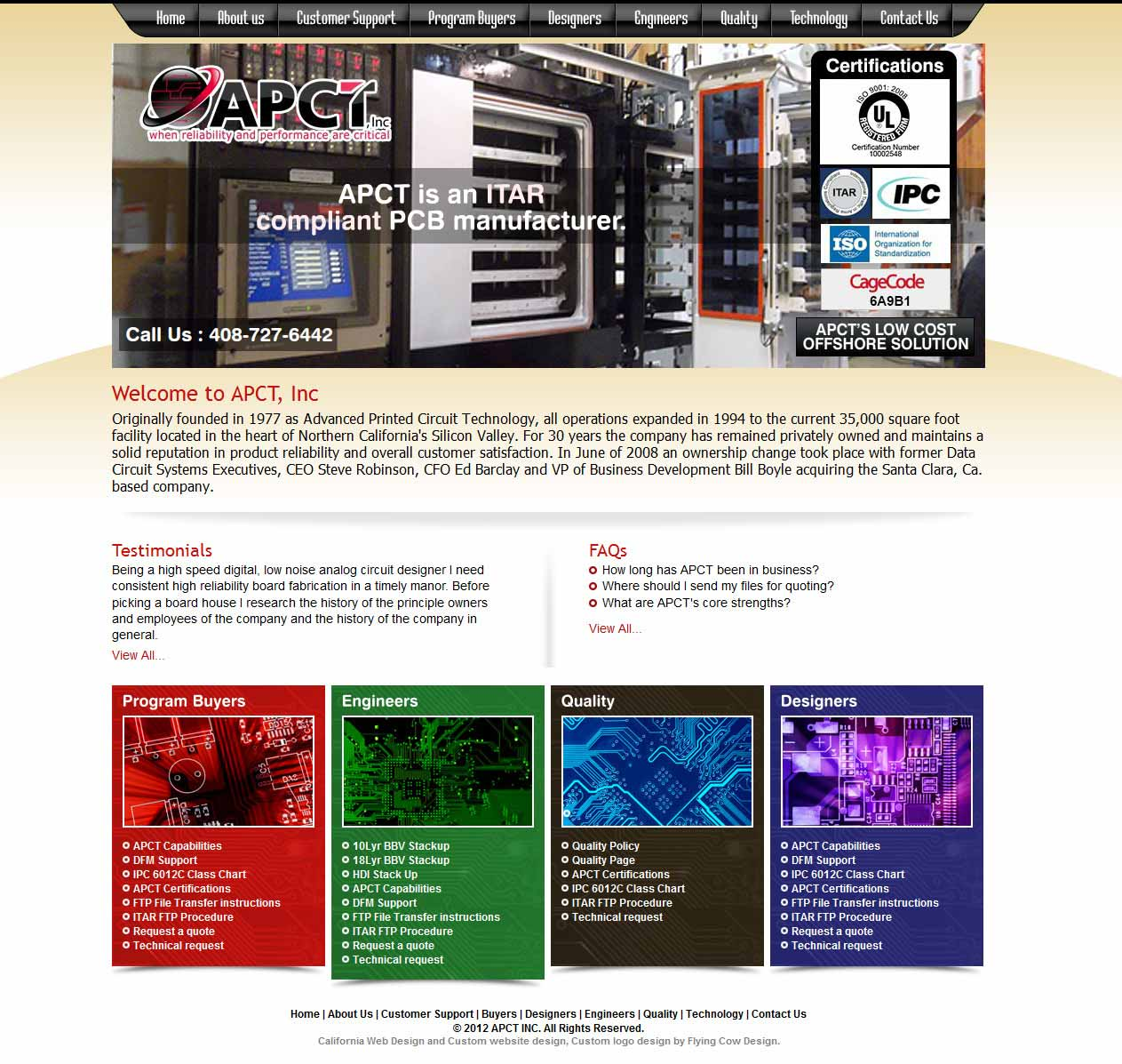 apct-big Manufacturing Website Design