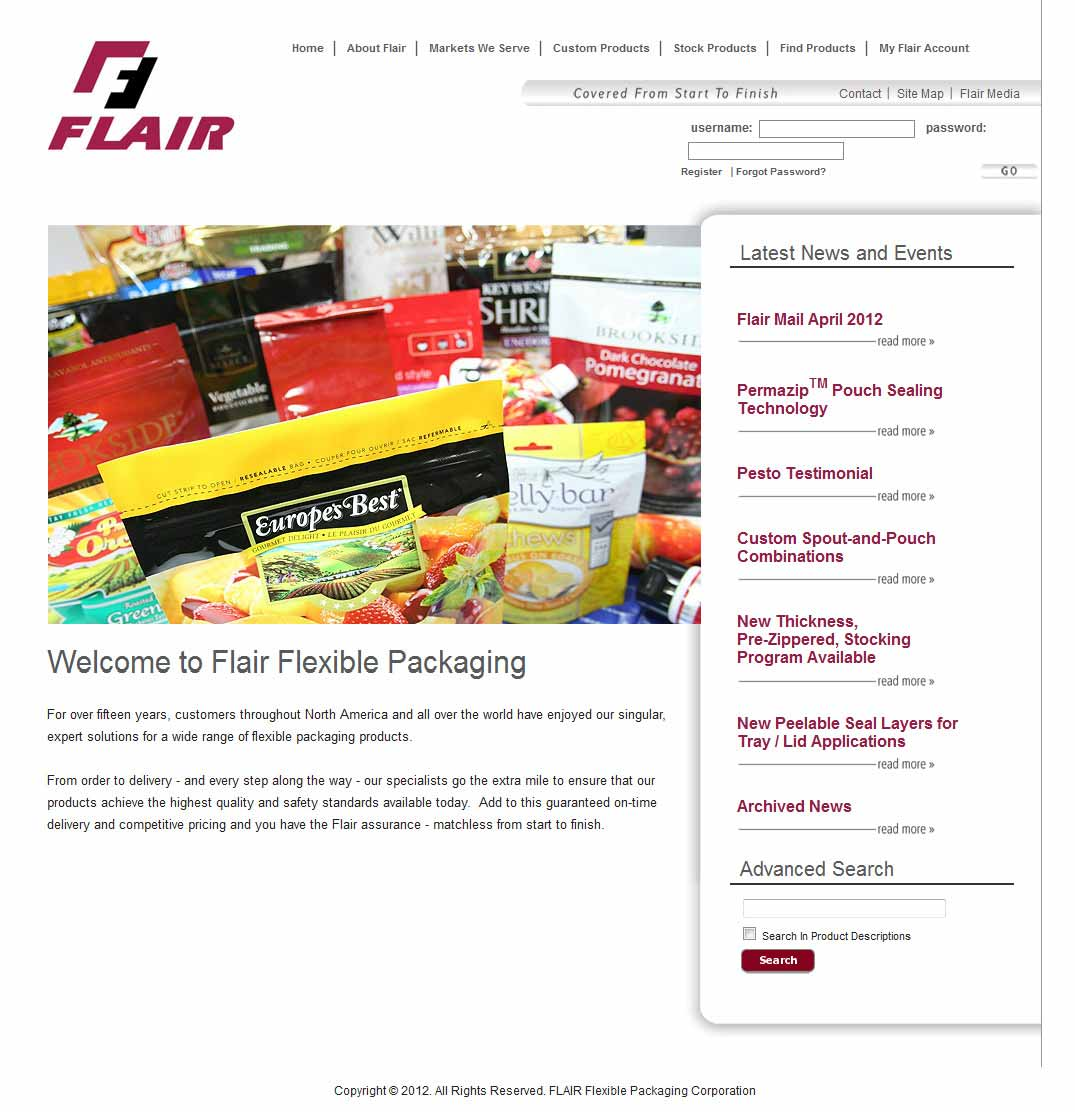 flair-big Manufacturing Website Design